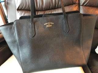 Gucci 黑色牛皮手袋 100% Authentic 真品