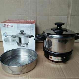 Multi cooker maspion, alat masak serbaguna 0,75 lt, watt 400
