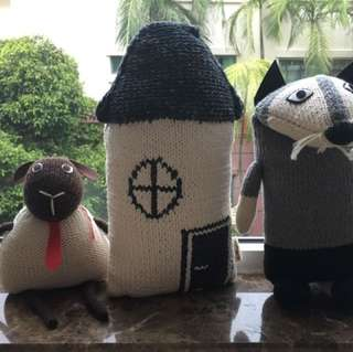 Hand made knitted soft toys