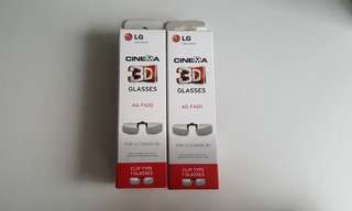 LG Cinema 3D Clip-On Glasses x2