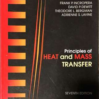 Principles of Heat and Mass Transfer 7th Edition (Incropera et. al)