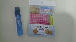 Cookie stamp (Japanese hiragana) & ink pad