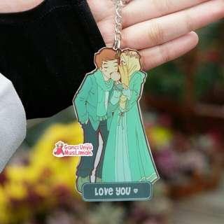Gantungan kunci muslimah couple