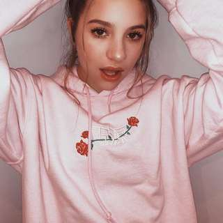 LF: Urban Outfitters Pink Power of Rose Hoodie