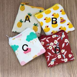 Assorted print coin pouch