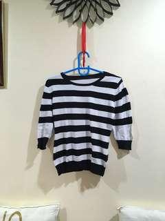 Big stripe blouse