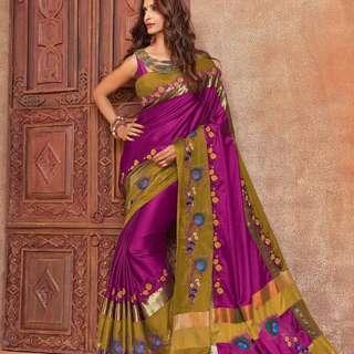 Aura silk cotton Saree