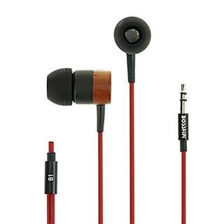 Little Big Sound Nature Tones In Ear Wood Earphones With Mic c02c8bc9f3a1e
