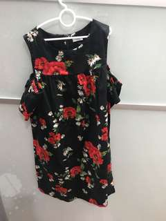 Preloved NEXT brand flora dress in black