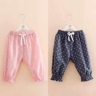 Kids fashion girl Drawstring Pants