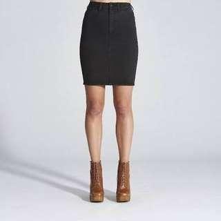 Wrangler Black Denim Skirt