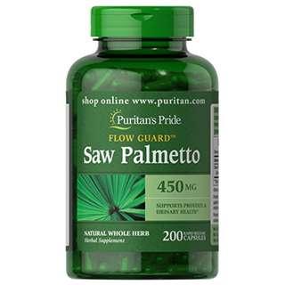 Puritan's Pride Saw Palmetto 450 mg-200 Capsules