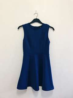 H&M Navy Blue Neoprene Dress