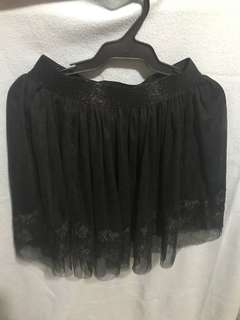 Gothic lace skirt