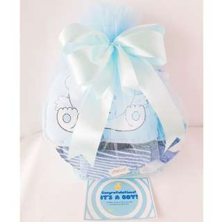 Blue Bed Set Gift Basket