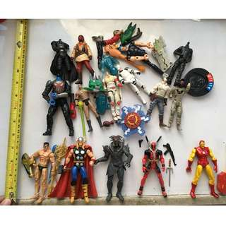 "Marvel Universe - MU 3.75"" figures and fodders"