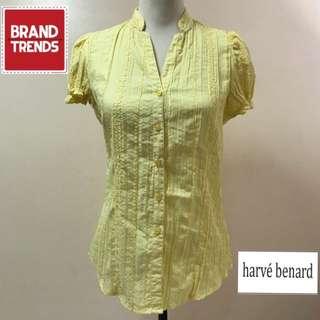 Harve Benard Botton Down Short Sleeve Yellow Top