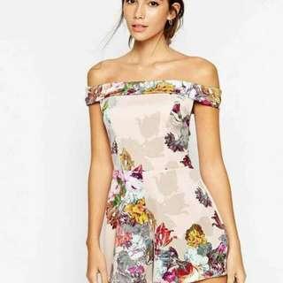 Floral jumpshort