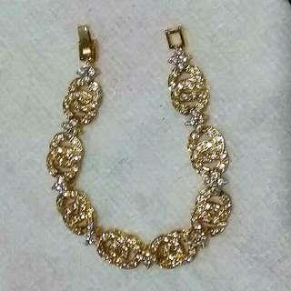 Gold plated with cz stone bracelet