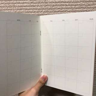Muji monthly planner