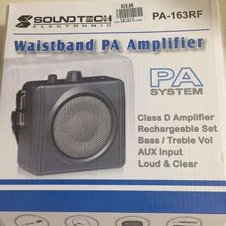 Waistband PA amplifier (portable mike)
