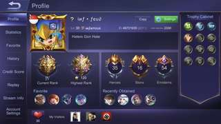 Mobile legends account (iOS)