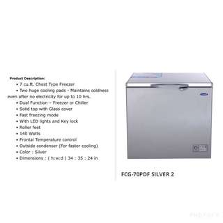 Rush Sale Preowned Fujidenzo 7 Cu Ft  Chest Freezer