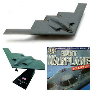 Diecast model Military aircraft plane for souvenir or hobby or education: B2 Spirit Stealth bomber