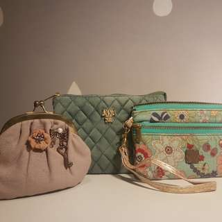 3pcs pouch hp/uang annasui (tidak ori)