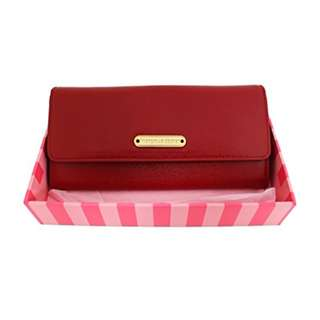Victorias Secret Premium Leather Wallet (7.5 IN x 4.2 IN, Maroon)
