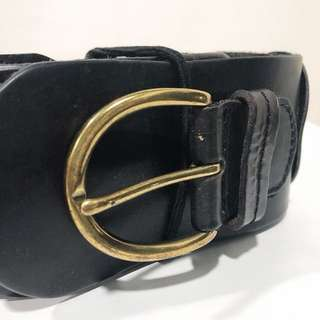 Braided Leather Wide belt