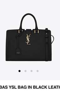 Authentic YSL Calf Leather Bag - Black