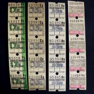 Vintage Bus Ticket Ephemera (35pcs)