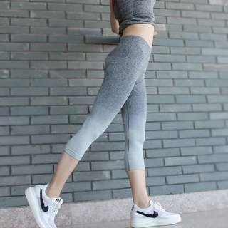 Grey ombré yoga tights