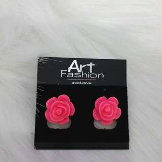 NEW Anting Pink Rose