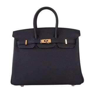 Hermes Birkin手袋 25cm 黑 Togo
