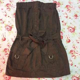 Forever Twentyone 21 Romper Skirt Army Color