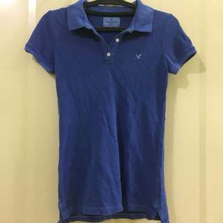 American Eagle Blue Polo Shirt