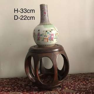 A Porcelain Figural tianqiuping
