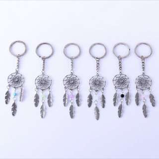 [PO] Feather Tassels Dreamcatcher Charm Keychain