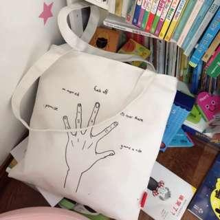 TB001: Fingers Tote bag