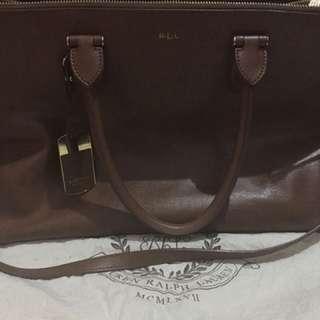 Authentic Ralph Lauren Newbury Double Zip Satchel Bag