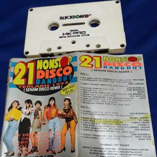 21 nonstop disco dangdut 1993 ( cassette tape )