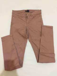 h&m - brown skinny pants