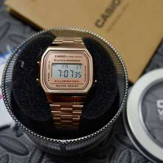 Vintage Casio Rose Gold