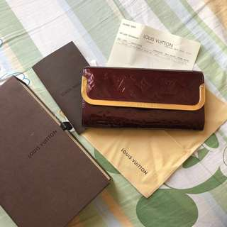Louis Vuitton Rouge Fauviste Vernis Rossmore Wallet