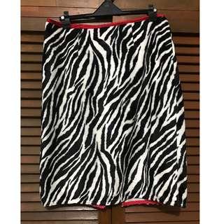 "Zebra Print ""Fur"" Skirt (XOXO)"