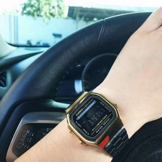 Vintage Casio Black Gold