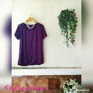 Lenka Purple Chiffon Blouse