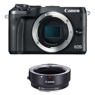 Canon M6 Body Only + Mount Adapter